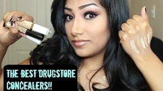 getlinkyoutube.com-Best Drugstore Concealers That Don't Crease -Nyx -Flower Cosmetics -Maybelline -Covergirl -Rimmel