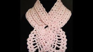 getlinkyoutube.com-Crochet : Bufanda de Piñas.  Parte 1 de 2