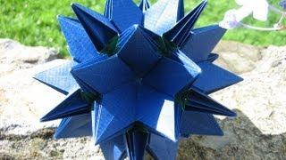 getlinkyoutube.com-Origami ✿⊱╮Crocus Kusudama ✿⊱╮
