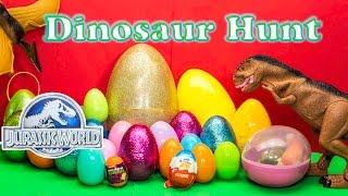 getlinkyoutube.com-DINOSAURS Jurassic World Funny Dinosaur Huge Surprise Eggs TheEngineeringFamily Surpise Toys Video