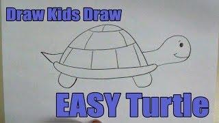 getlinkyoutube.com-How To Draw: EASY Turtle