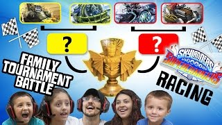 getlinkyoutube.com-Skylanders Superchargers: Family Racing Tournament Battle!  3 ROUNDS, 9 LAPS CHAMPIONSHIP FUN!  (#1)