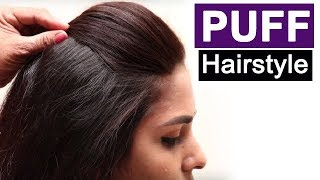 5 Easy Puff Hairstyles | Everyday Hairstyles Tutorials | Quick Hairstyles For Medium Thin Hair