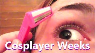 getlinkyoutube.com-Cosplayer Weeks! Shaving Eyebrows for Cosplay! (week 127)