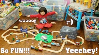 Toy Trains and Power Tools Playset. Thomas & Friends, Chuggington and Imaginarium Train Set