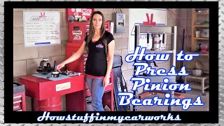 Pretty Brunette shows how to Press Pinion and Differential Bearings In and Out