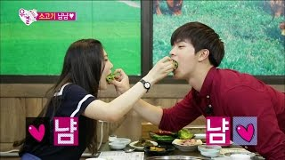 getlinkyoutube.com-【TVPP】 Sungjae(BTOB),Joy(Red Velvet) - Yummy Rib eye, 성재(비투비),조이(레드벨벳) - 소고기 냠냠 @ We Got Married
