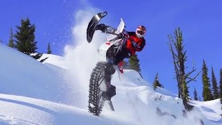 getlinkyoutube.com-Ronnie Renner Snow Biking in Idaho Backcountry