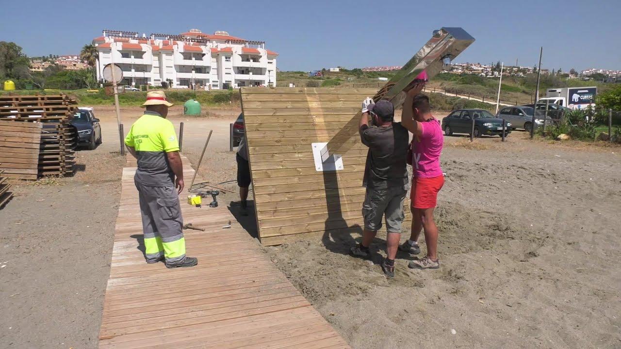 Equipamiento de las playas del término municipal