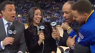 getlinkyoutube.com-Stephen Curry Scares the Crap Out of Dell Curry