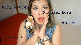 getlinkyoutube.com-MiNi Review Michael Kors  Watchs /5055/5493/5076/8096
