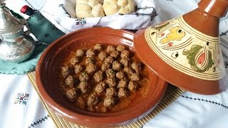 getlinkyoutube.com-Moroccan meatballs Tagine   -  كويرات الكفتة مع الطماطم - Tajine de boules de viande