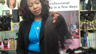 getlinkyoutube.com-Pulling & Preparing Xpressions /Kanekalon Extensions for natural Feathered tips