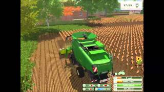 getlinkyoutube.com-Farming simulator 2013| Harvesting sunflower
