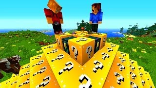 getlinkyoutube.com-Minecraft LUCKY BLOCK BATTLE ARENA #3 with Vikkstar, BajanCanadian, Woofless & Lachlan