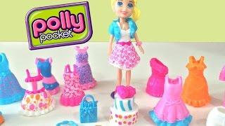 getlinkyoutube.com-Polly Pocket Festa de Aniversário Looks Especiais Mattel