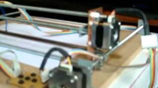 getlinkyoutube.com-Homemade CNC Plotter: Running a Mach3 sample G-Code.
