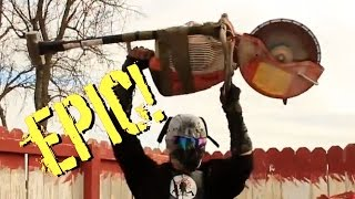 getlinkyoutube.com-10 EPIC Zombie Video Game Weapons in Real Life!  Zombie Go Boom