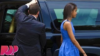 Malia Obama Learns To Drive From The Secret Service
