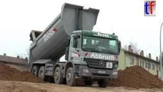 getlinkyoutube.com-Mercedes-Benz Actros 4146 Dump Truck, Fa. Feess, Fellbach, Germany, 19.02.2015.