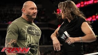 getlinkyoutube.com-Stephanie McMahon, Batista and Randy Orton argue about WrestleMania: Raw, March 24, 2014