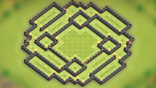 getlinkyoutube.com-Clash of clans - Town hall 9 (TH9) Farming base [The trap ver.2] Speed build