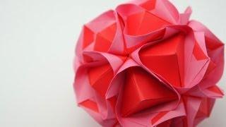 getlinkyoutube.com-Origami Clover Kusudama (Maria Sinayskaya)