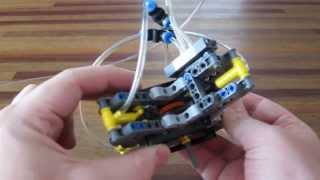 getlinkyoutube.com-Lego Pneumatic Engine - 4 cylinder radial cam engine