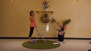 getlinkyoutube.com-Creative Sequences for Building Lower Body Strength - Energizing Chair Yoga