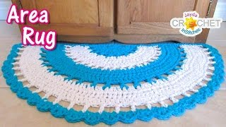 Beautiful Half Circle Area Rug - Crochet Tutorial width=