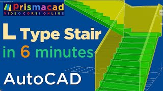 getlinkyoutube.com-How to build a L-Type Stairs with Autocad a few minutes - Architecture