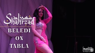 Shahrzad Beledi on Tabla Belly Dance width=