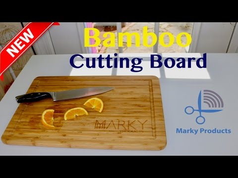 😍  MARKY PRODUCTS  Bamboo Cutting Board - Review ✅