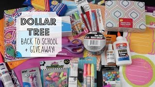 getlinkyoutube.com-Dollar Tree Back-to-School & GIVEAWAY! | School Supply Haul (CLOSED)