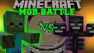 getlinkyoutube.com-GIANT ZOMBIE VS WITHER BOSS - Minecraft Mob Battles - Arena Battle