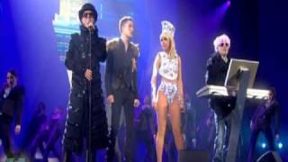 getlinkyoutube.com-Pet Shop Boys ft. Lady GaGa & Brandon Flowers - 2009 BRIT Awards Perfomance