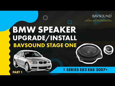 BMW 1 Series Speaker Upgrade 1:2  BSW Stage I  E82:88 '07+