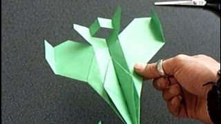 "getlinkyoutube.com-Papierflieger ""Faita"", Bauanleitung F-16 paper airplane"
