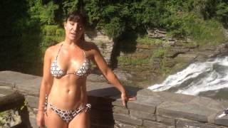 getlinkyoutube.com-Best hiking in the u.s. Almost 50 YEAR OLD Farm Girl visits Enfield Gorge in Ithaca, New York.
