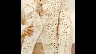 getlinkyoutube.com-Abrigo largo  a crochet en color crudo