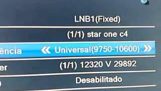 star one C4 novo satelite da claro como adicionar na lista(video detalhado)fazer busca cega
