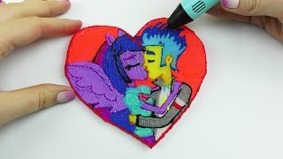 getlinkyoutube.com-My Little Pony Equestria Girl Twilight Sparkle and Flash Sentry Kissing Draw with 3D PEN! For Kids