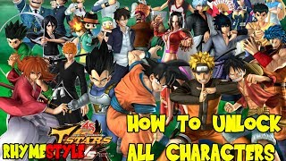 getlinkyoutube.com-J-Stars Victory VS - How To Unlock All The Characters Tutorial