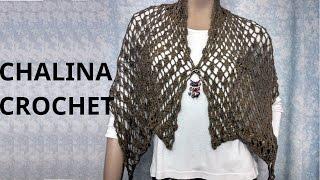 getlinkyoutube.com-Bufanda Chalina en tejido crochet tutorial paso a paso.