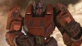 Transformers: Fall of Cybertron Optimus Prime Ending (Arrival To Earth)