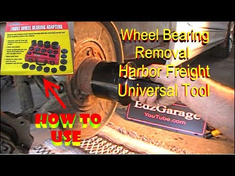 Wheel Bearing Removal with Harbor Freight Universal Tool BMW 325i Rear Front
