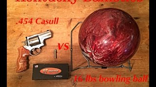 getlinkyoutube.com-.454 Casull vs 16 lbs Bowling Ball