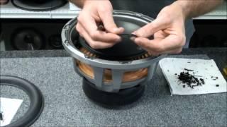getlinkyoutube.com-JL Audio 10W6 v2 Speaker Subwoofer Foam Repair Replace Speaker Foam Edge