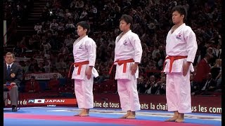 getlinkyoutube.com-(1/2) Karate Japan vs Italy. Final Male Team Kata. WKF World Karate Champions 2012. 空手日本