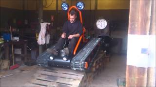 getlinkyoutube.com-Home made tracked vehicle Finished and driving